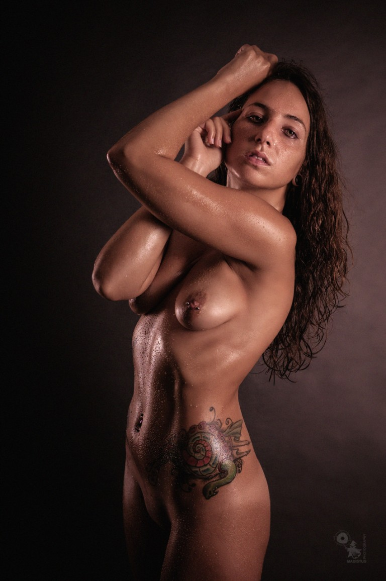LowKey Nudes - beautiful naked model is posing with water perls on her fantastic body - © by Magistus