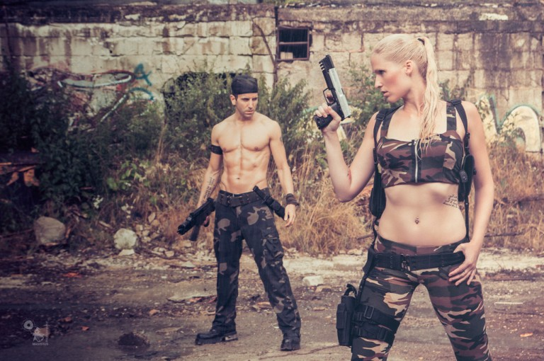Fighting for Good - Super sexy Army Fighters posing in ruines showing perfect tight bodies. - © by Magistus