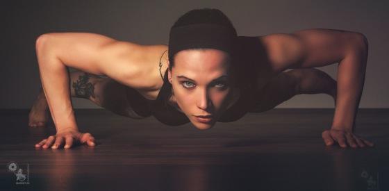 Push Up! - Fantastic Fitness Model Portrait while doing push ups - © by Magistus