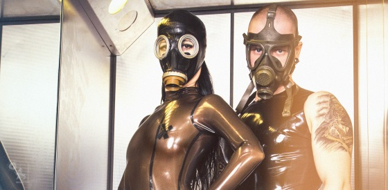 Fetish Fashion - Super hot, sexy and extreme fetish fashion with a fantastic girl posing in transparent latex body and gas mask together with a male model - © by Magistus