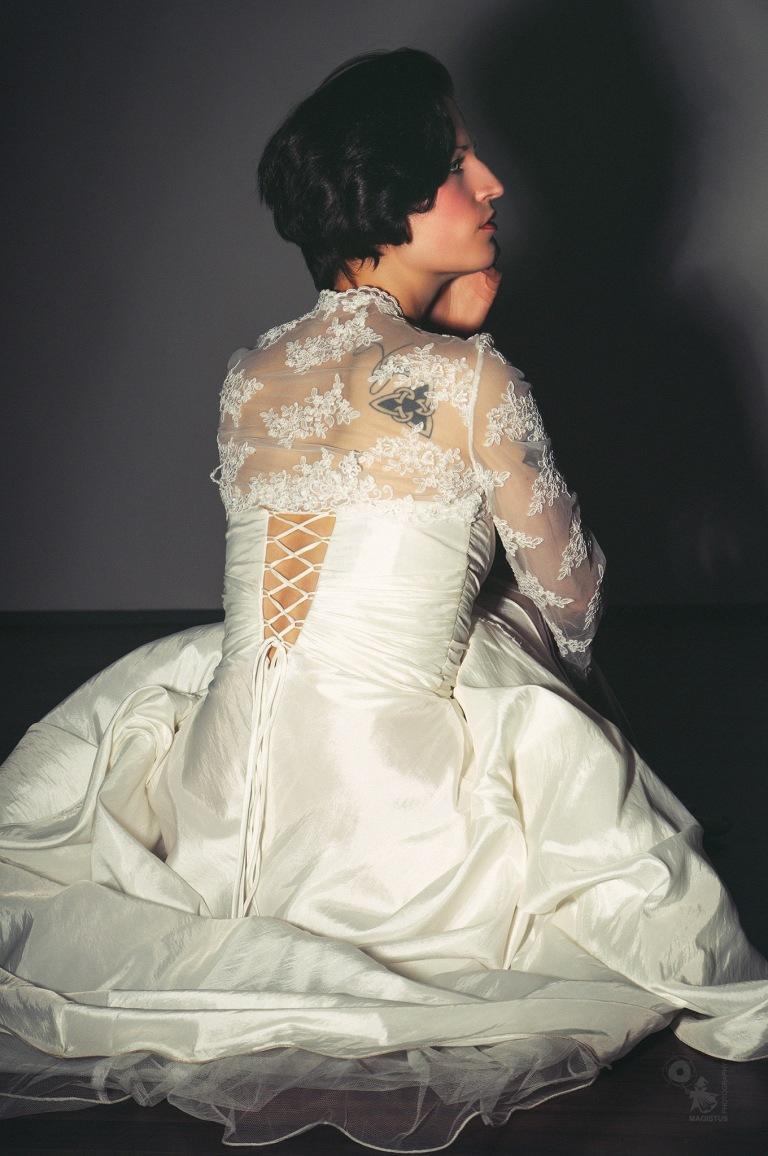 The Bride - Beautiful Bride posing in her wonderful weddingdress - © by Magistus