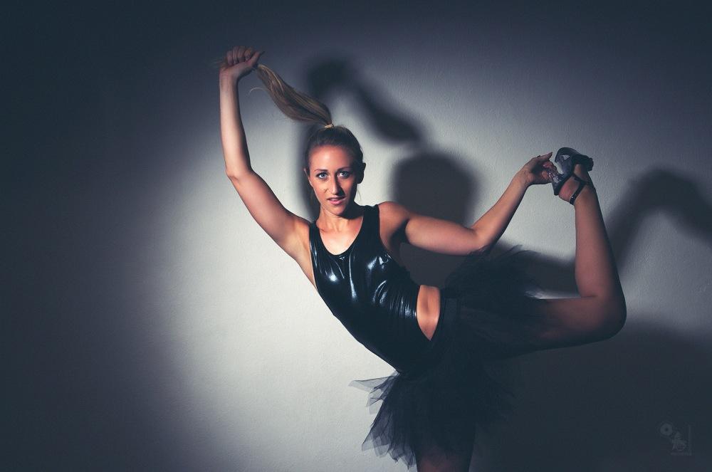 Black Ballet - sexy girl is posing as ballerina in a black sexy body - © by Magistus