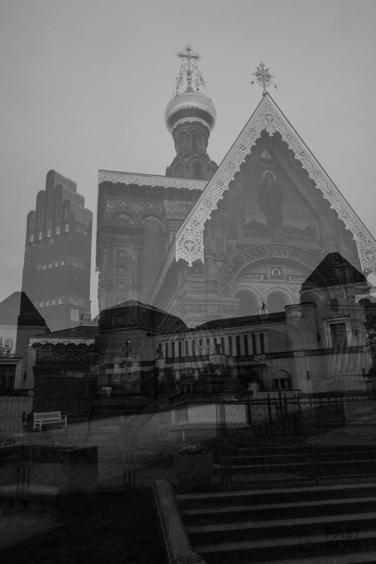 Mathildenhöhe Darmstadt - Double Exposure shot with Fuji X-T2 - © by Magistus