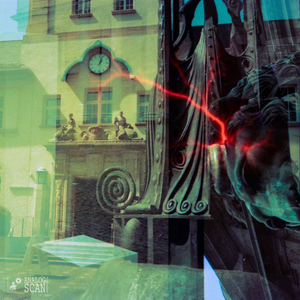 Darmstadt - Jugendstilbad -- Doppelbelichtung Lomo Effect Film