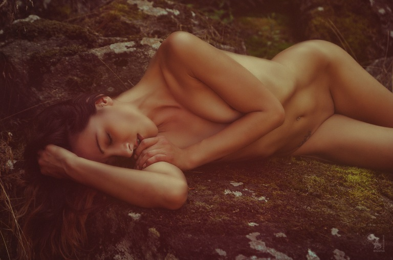 Natural Nude - beautiful naked girl on a rock - © by Magistus