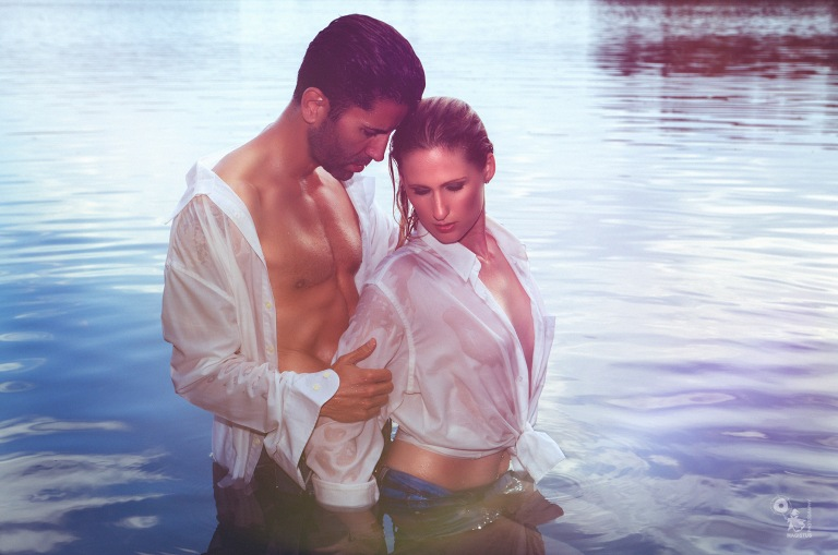 Lake Romantic - super beautiful and sexy boy girl picture with seethrough wetlook style - © by Magistus