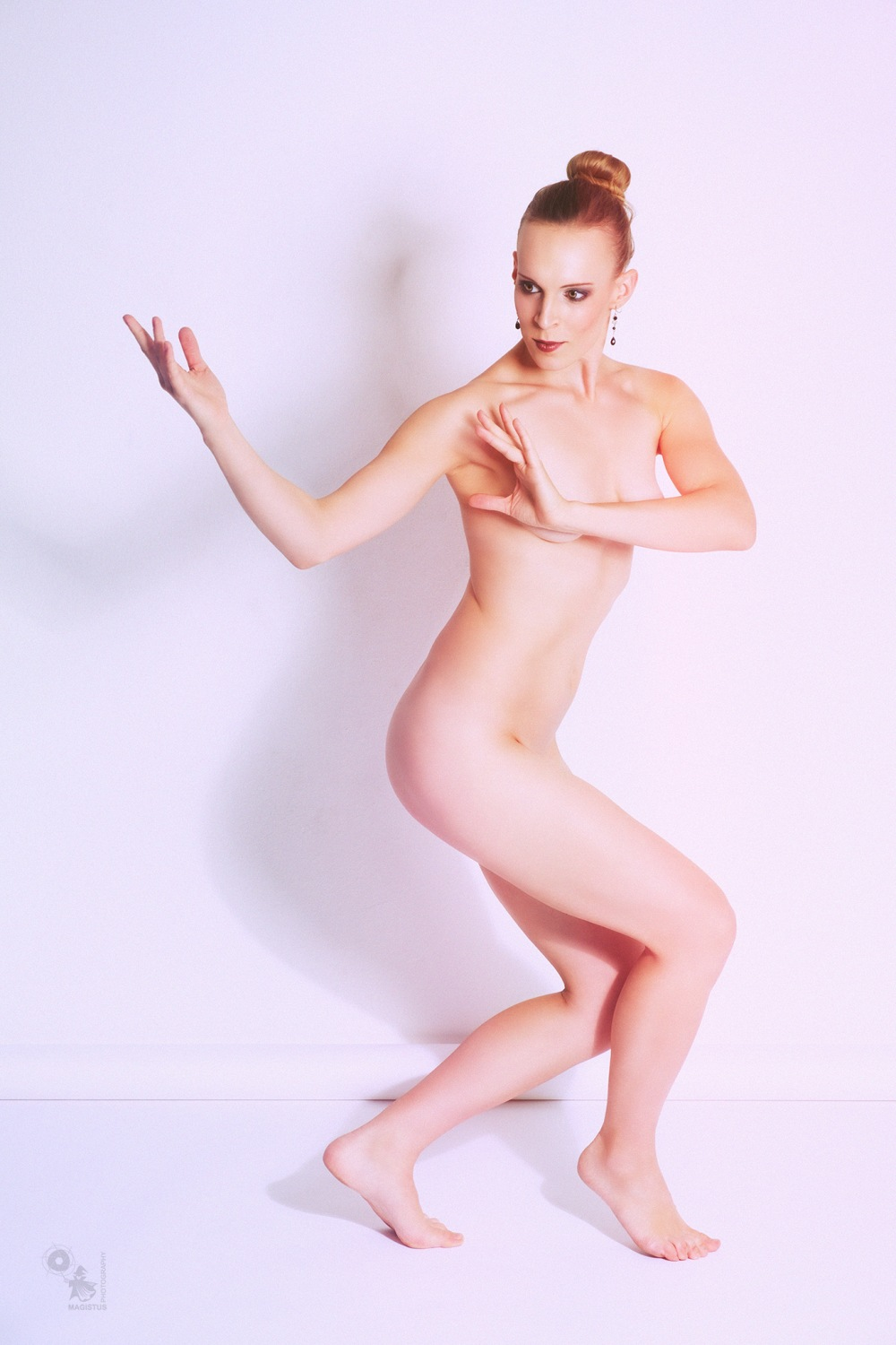 Fine Art - fantastic nude art photo of a wonderful model posing naked and elegant - © by Magistus