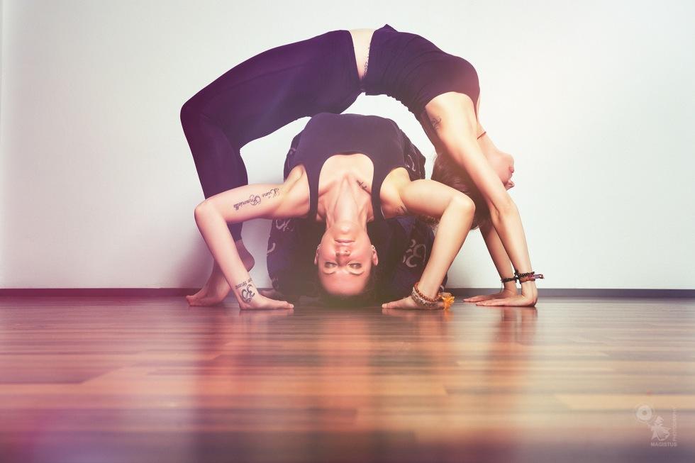 Yoga Girls - Acrobatic Girl-Girl Yoga Pose - © by Magistus