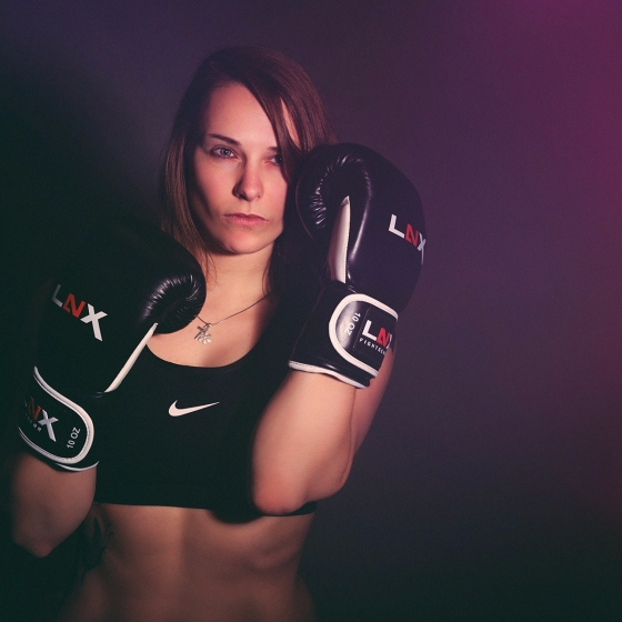 Boxing - super hot and tough girl posing in boxing style - © by Magistus