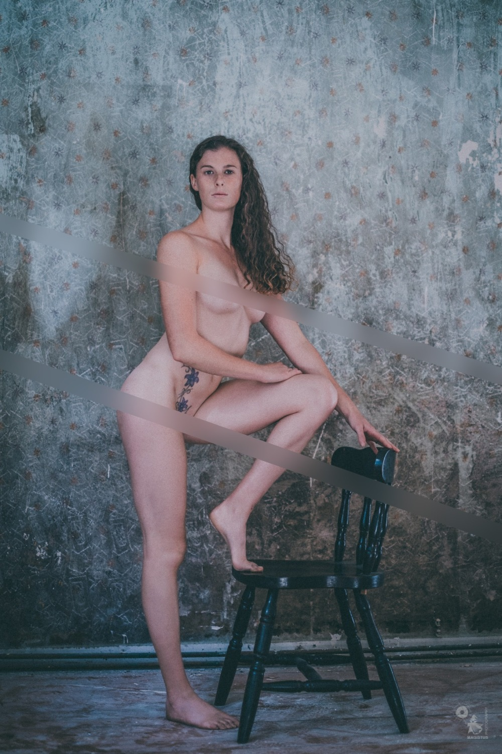 Nude art photo of a fantastic model posing naked